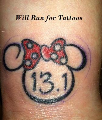 Will run for tattoos from here to me for Half marathon tattoos